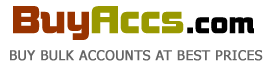 Buyaccs.com: Bulk Accounts with Instant Delivery After Payment. We Accept Paypal