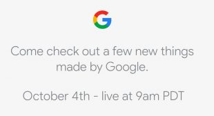 Watch Live Google's October 4 Event Of Pixel 2