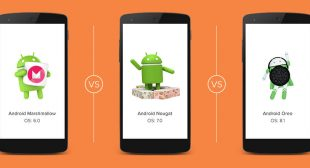 Android M to O-Comparison of Common Android Operating Systems