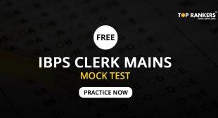 IBPS Clerk Practice Set