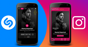 Shazam app allows the users to share the songs on the Instagram story