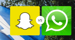 WhatsApp and Snapchat account for more number of users combined as compared to any other platform.