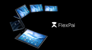Check out the world's first foldable smartphone.