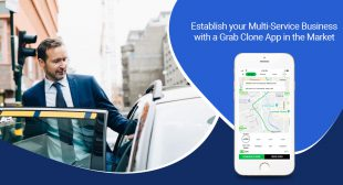 What does the Grab clone app package offer?