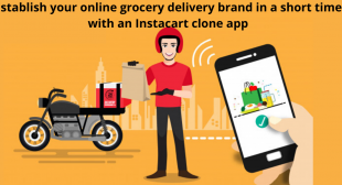 Establish your online grocery delivery brand in a short time with an Instacart clone app