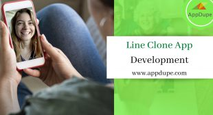 What are the features of the Line clone messaging app?
