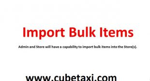 Bulk Store Items upload – Store Delivery Application