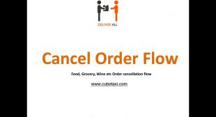 Cancel Order Flow – DeliverAll Application