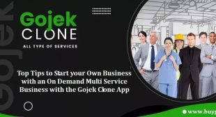 Top Tips to Start your Own Business with an On Demand Multi Service Business with the Gojek Clone App